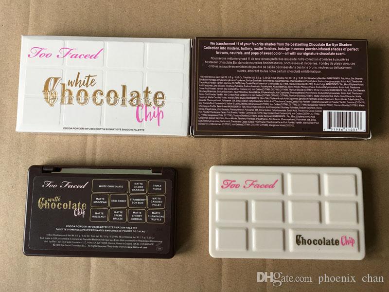 Fard à paupières au chocolat noir et blanc Palette de fards à paupières aux pépites de chocolat noir et blanc 11 couleur mat fard à paupières marque maquillage cosmétiques