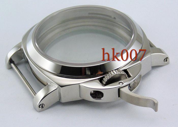 P9 Neiton PAM 44mm Stainless Steel Wristwatch Case Glass Kit ETA6497 6498 St36 Series Movement Watch Case Watch Accessory