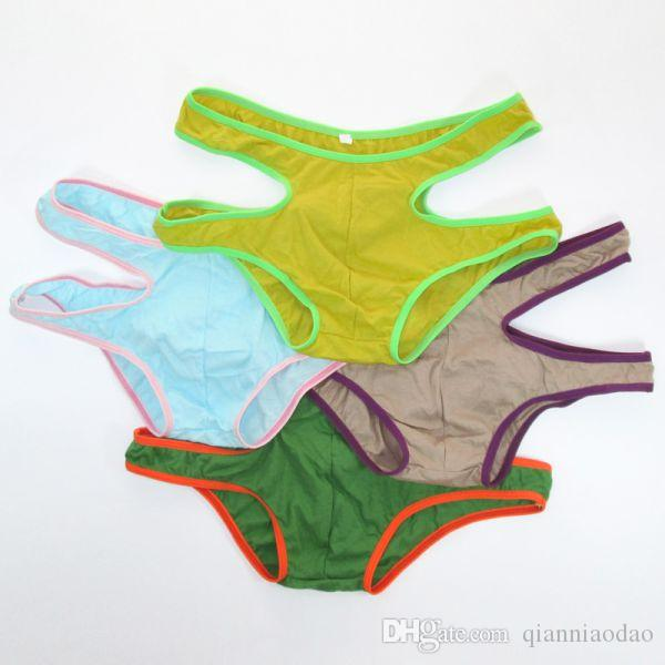 Mens Cotton Undies Fashional Panties Thin Soft Comfort mens underwear G211C Colorful Sexy Trunks Boxer Briefs