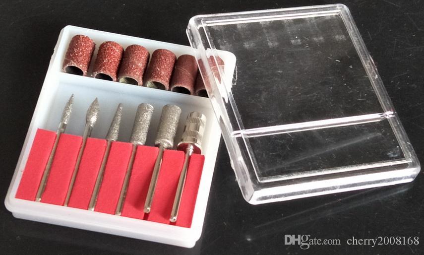 Borrbitar och slipband för nagelborrbyte Set Nail Electric File Metal Bits