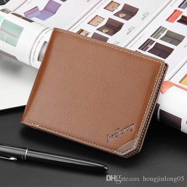 품질 패션 신사용 지갑 빈티지 짧은 지갑 최고의 선물 가로 수직 학생 신용 카드 홀더 지갑 지갑