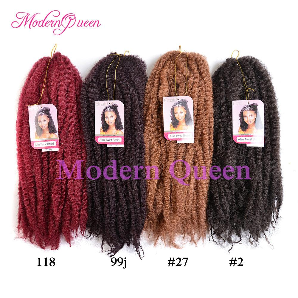 Afro Kinky Curly Twist Marley Braid Hair Extension 18inch 100g Kinky Crochet Hair Braids Synthetic Hair Extensions Kanekalon Twist Braiding