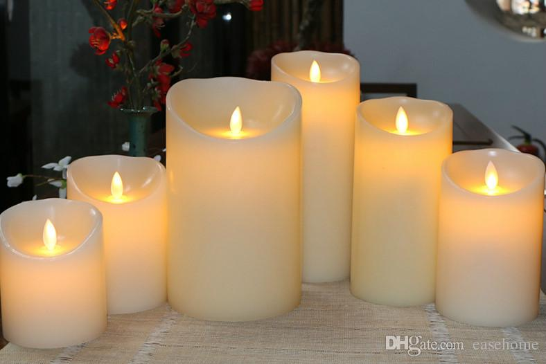 Горячие продажи светодиодные яркие экологически чистые пластиковые свечи в 3 размеры для дома свадьба украшения бесплатная доставка