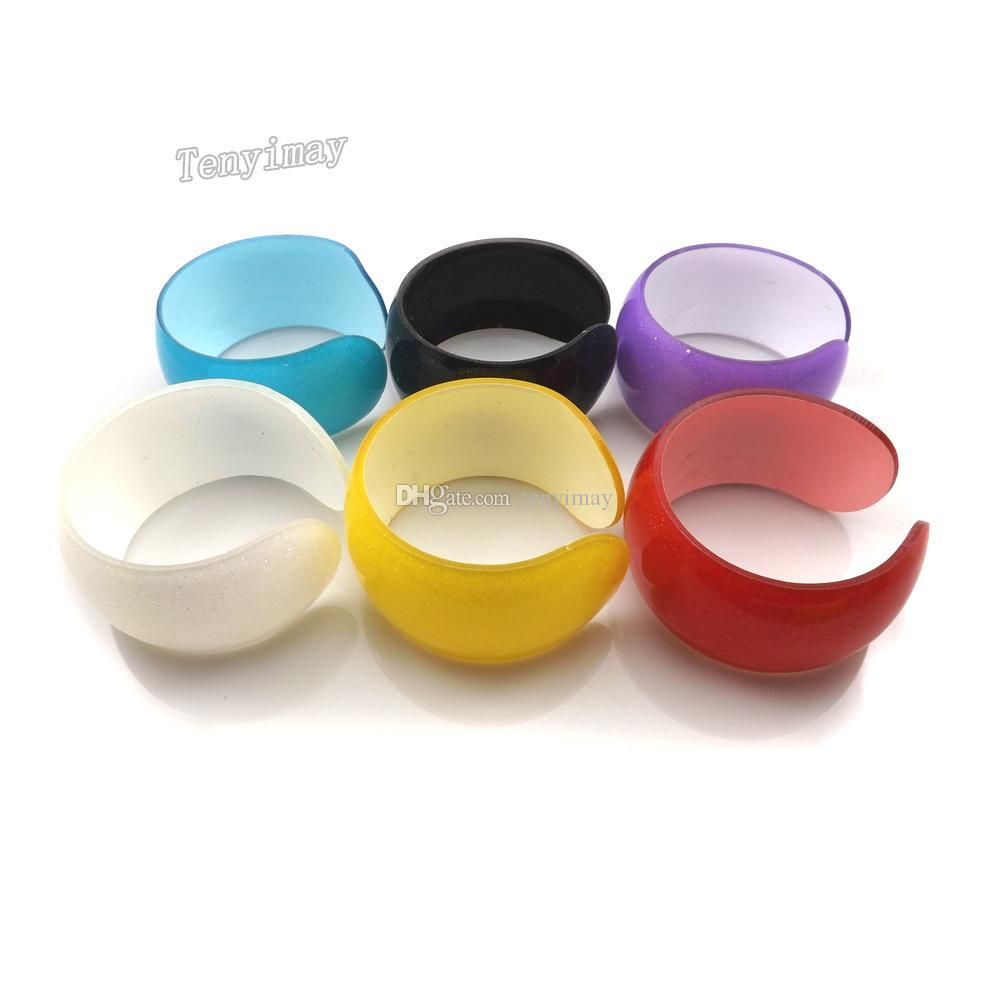 Ouvert Acrylique Kid Bangle Mode Solide Bonbons Couleur En Plastique Bracelets Pour Cadeau / Livraison Gratuite