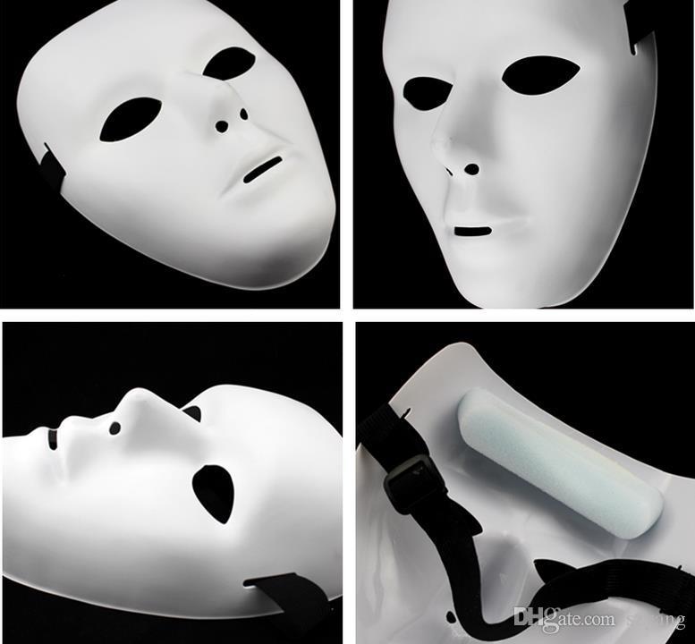Precio de promoción Pintado A Mano Pintura Máscara DIY Cara Blanca Pulpo Hallowmas Party Mask Cara Completa Hombres mujeres máscara 50 unids / lote