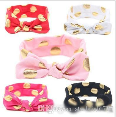 Hot Sell Sweet Girls Hairbands Baby Dots Bow High Quality Hairband Korean Style Kids Acccessories Fashion Girls Hairbands
