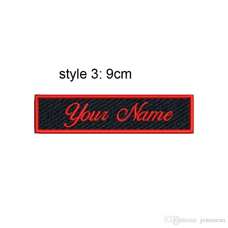 Cool Custom Name Tag Embroidered Patch Sew or Iron on Clothing and Hats Any fonts Sizes and Color Are Available Patch