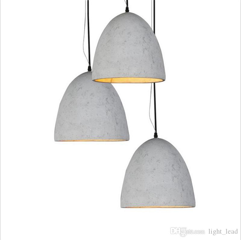 Fresh Retro Cement Pendant Lights AC110V E27 Modern Industrial Concrete  WC75