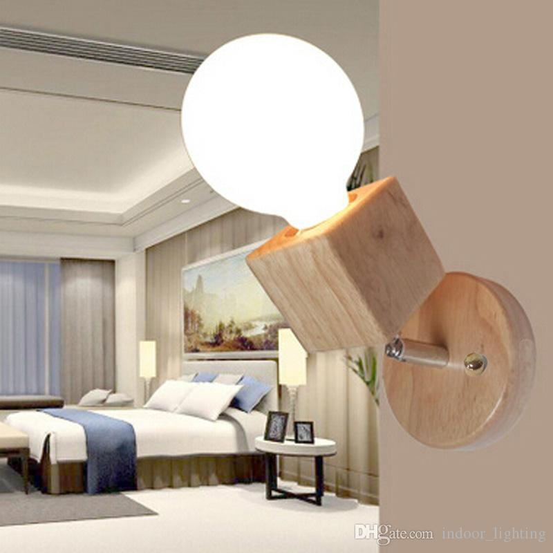 Grosshandel Moderne Beleuchtung Holz Wandleuchte Schlafzimmer Kuche