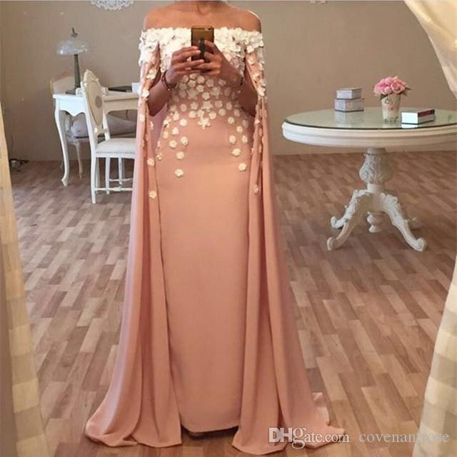 Latest 2016 Evening Dresses With Capes 2017 Women Pageant