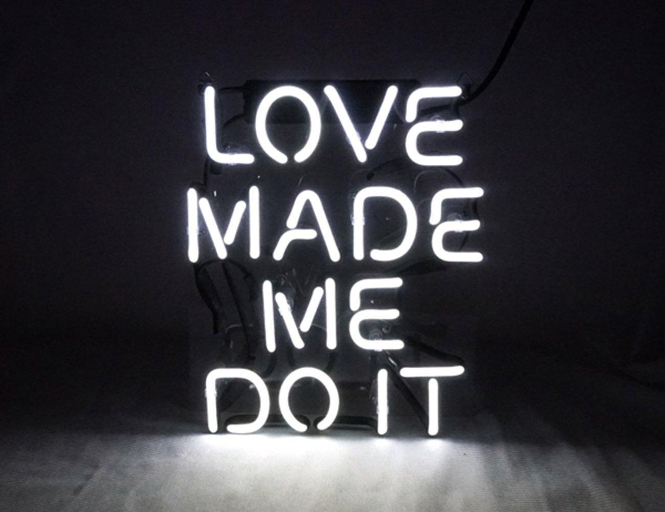 2018 love made me doit real glass neon light sign home beer bar pub 2018 love made me doit real glass neon light sign home beer bar pub recreation room game room windows garage wall sign from loveneon 6232 dhgate aloadofball Choice Image