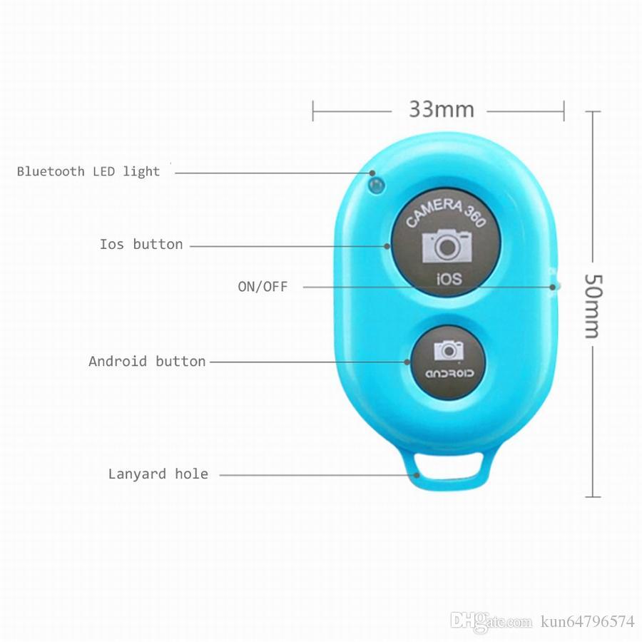 유니버셜 블루투스 원격 카메라 제어 samsung s3 s4 iphone 4 5 ipad blackberry 등을위한 셀프 타이머 출시 셔터
