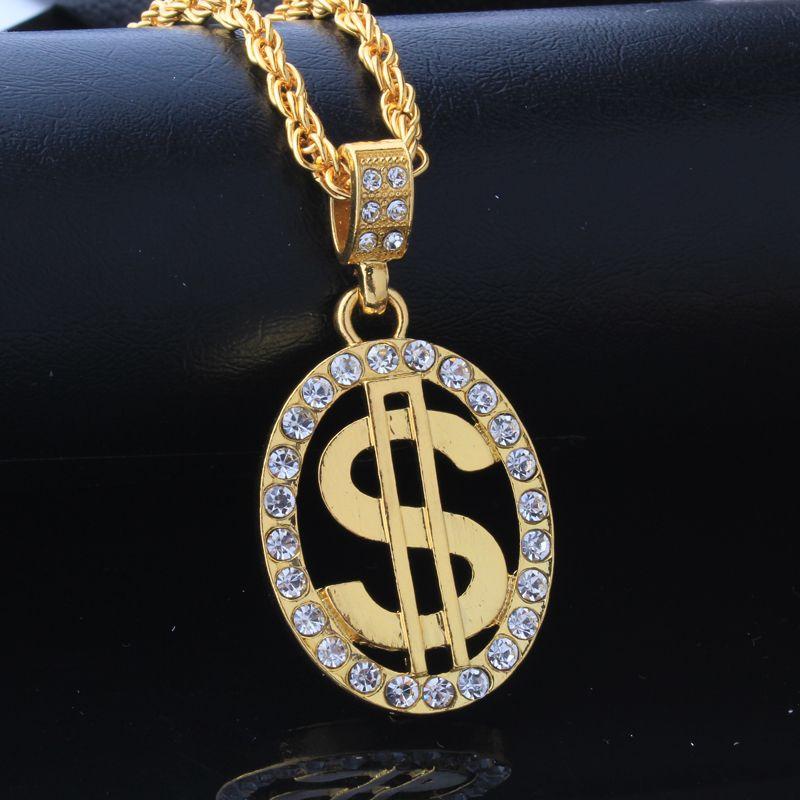 Mischgroßverkauf Punk Bling Iced Out Engel Jesus Superman S Dollar Kristall 18K Gold Kreuz NecklacePendants Hip Hop Schmuck für Männer Frauen