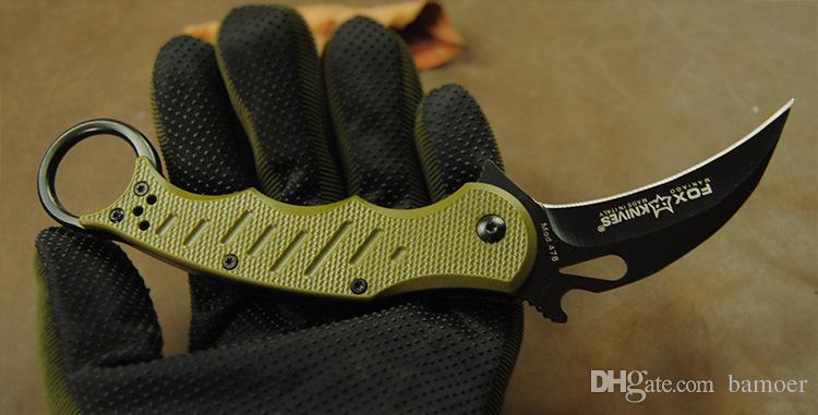 3 Stili EMERSON Wolf Karambit artiglio lama 5Cr13 maniglia ABS Coltello pieghevole coltelli da campeggio regalo di salvataggio con scatola al minuto