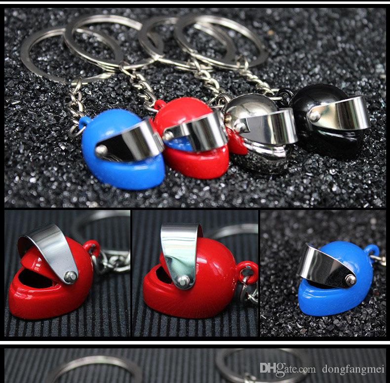Brand new Motorcycle Helmet Keychain Key Ring Creative Simulation Gift KR015 Keychains a