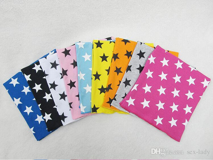 spring autumn korean Kids hats cotton boys girls Star print Infant Hat caps with matching scarf set little baby keep warm headgear