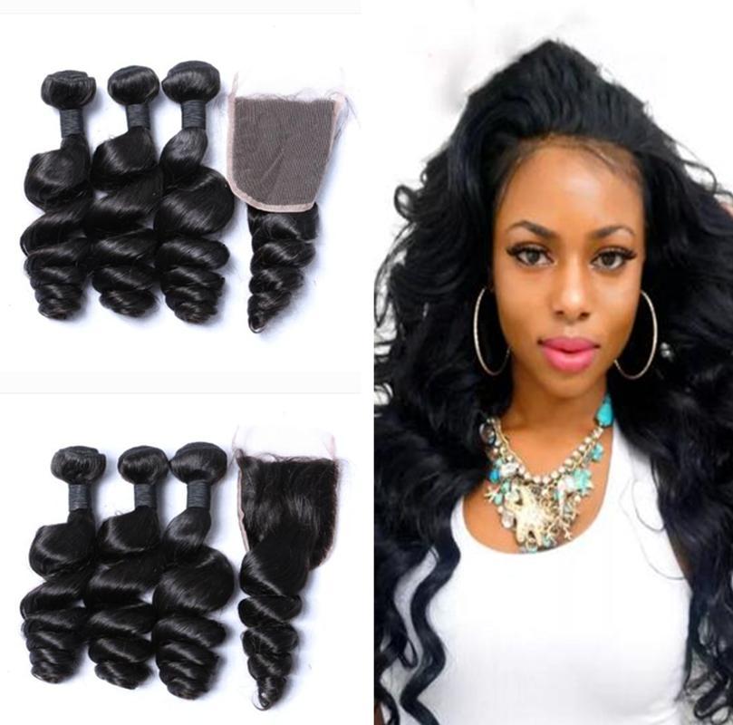 2018 Huihaohairs Brazilian Loose Wave Hair Weaves 3 Bundles With
