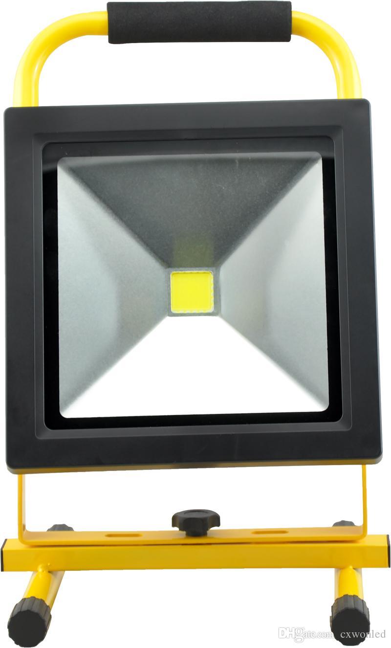 Taşınabilir led Şarj edilebilir açık Taşkın Işık 10w 20W 30w 50W 100-240V AC Girişi IP65 Led çalışma Işık kapalı ve açık