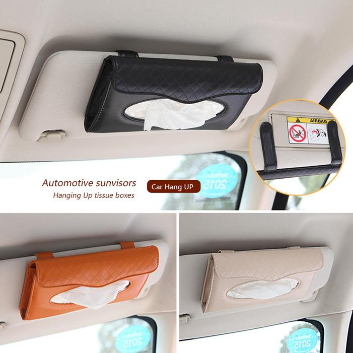 2018 Pu Leather Cover Car Sun Visor Tissue Box Cover Hangup Napkin Holder Seat Back Vehicle Wall Mount Paper Case For Home Car Automotive From Yuanyings ... & 2018 Pu Leather Cover Car Sun Visor Tissue Box Cover Hangup Napkin ... Aboutintivar.Com