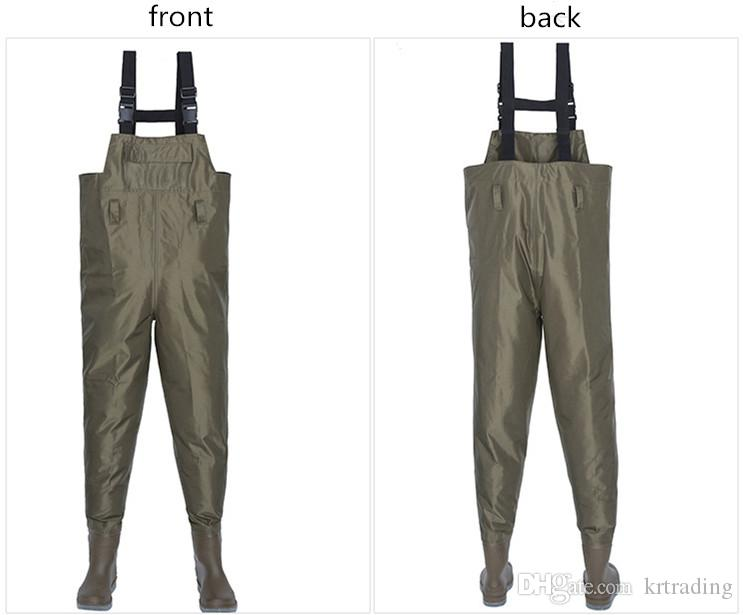 Juniors's Fishing pants nylon taffeta suspender waders lightweight outdoor bodysuits lure fishing 8sizes for teenage and adult EMS DHL free