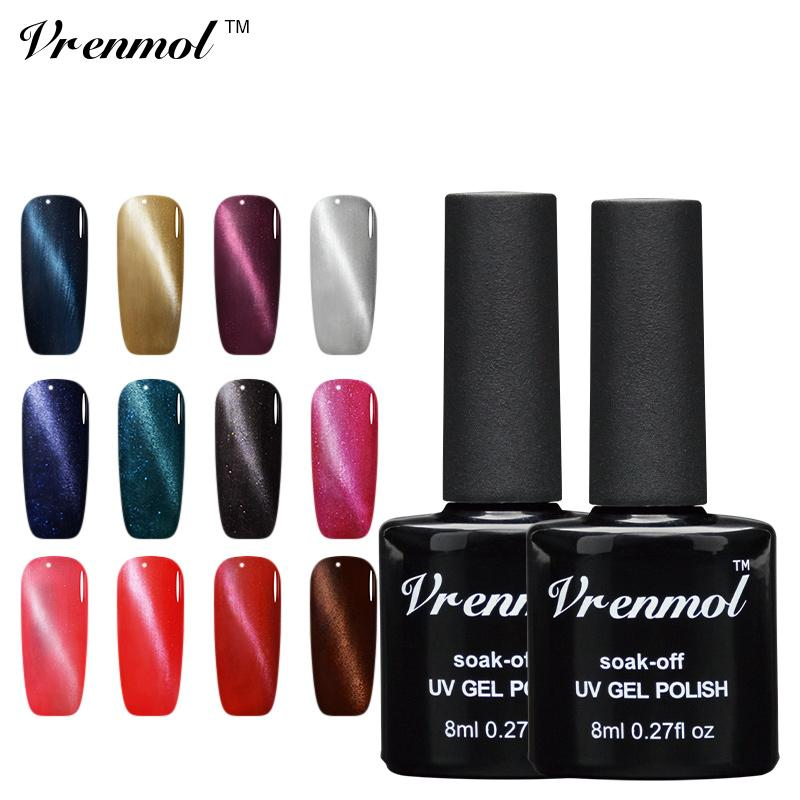 Wholesale Vrenmol 3d Magnetic Cat\'S Eye Uv Led Nail Gel Polish Soak ...