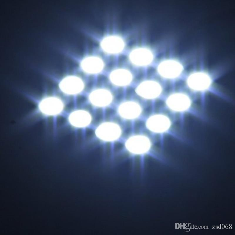 20x وICEBLUE - 6-SMD الأبيض 16-SMD الأبيض-15-SMD BA9S T10 5050 سيارة لوحة الداخلية الخفيفة قبة اكليل مصباح DIY