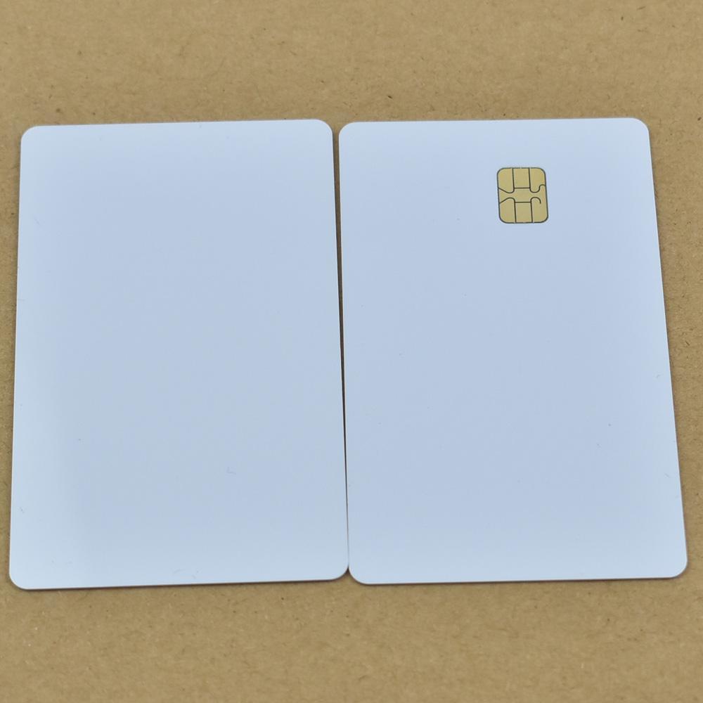 Scheda in PVC bianco ISO7816 da 10 pz / lotto con SEL 4442 Scheda di contatto IC Card smart contact in bianco