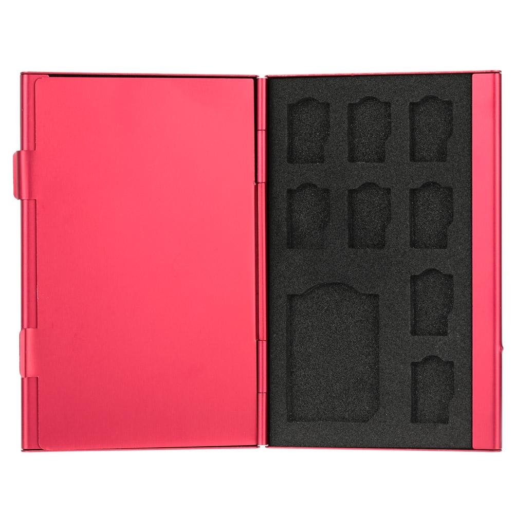 12 in 1 Aluminum Storage Box Bag Memory Card Case Holder Wallet Large Capacity For 4 * SD Micro SD SDHC SDXC MMC 8 * TF SIM Card