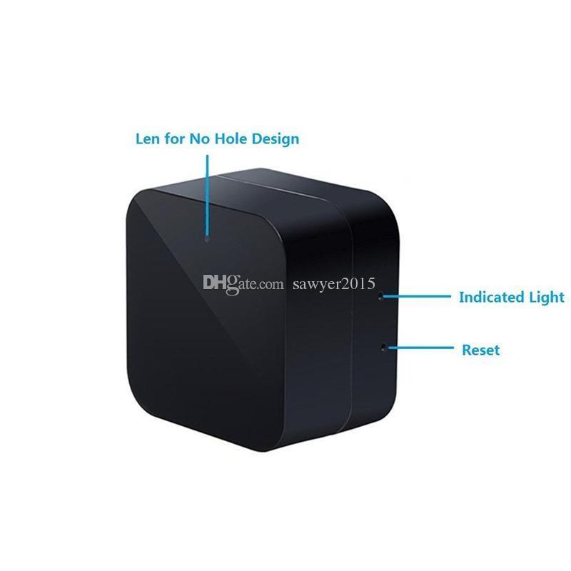 Cámara de zócalo Wifi inalámbrico HD 1080P Cargador de CA Cargador de pared DVR Adaptador de cámara USB Home Security Socket Camera