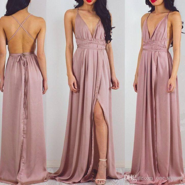 Dresses Evening Wear Sexy Criss-cross Backless Deep V-neck Spaghetti Straps Front Split Red Carpet Celebrity Gowns Long Prom Party Dress