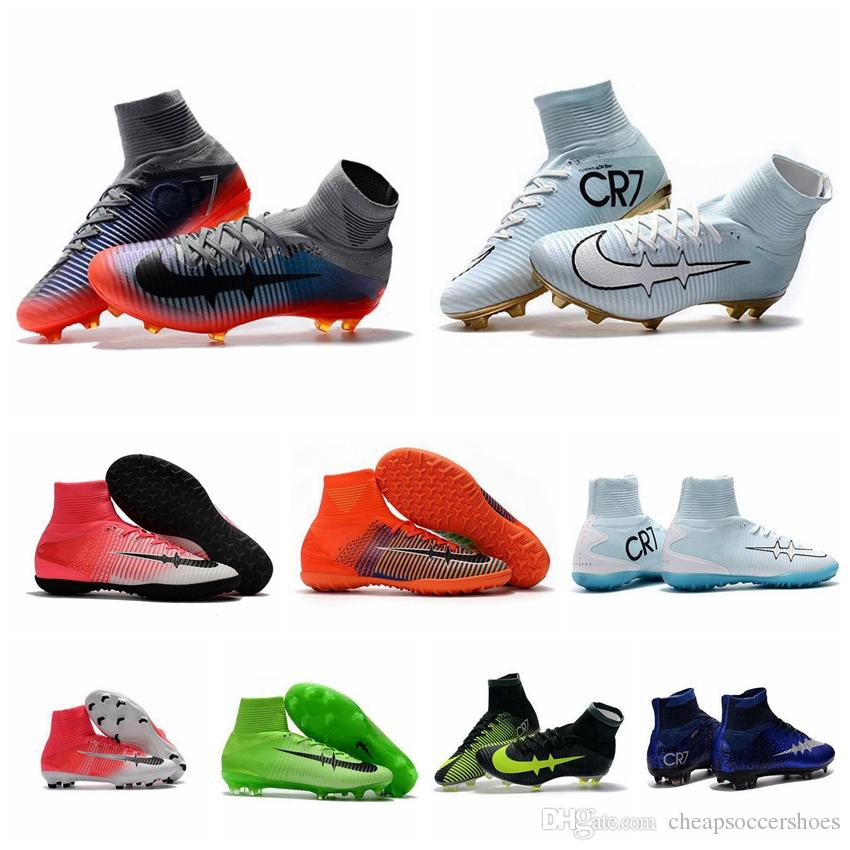 Nike Cr White Gold Soccer Shoes
