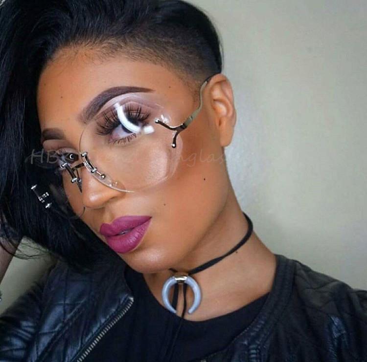wholesale unique hot transparent eyeglasses women rimless. Black Bedroom Furniture Sets. Home Design Ideas
