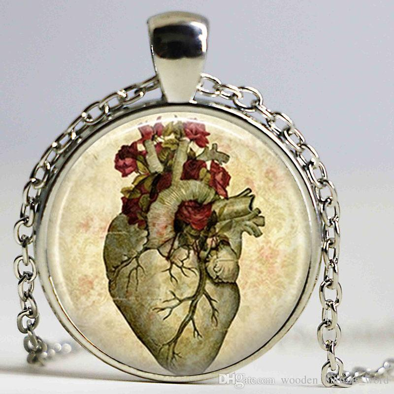 Wholesale Heart Steampunk Jewelry Steampunk Necklace Anatomy Jewelry ...