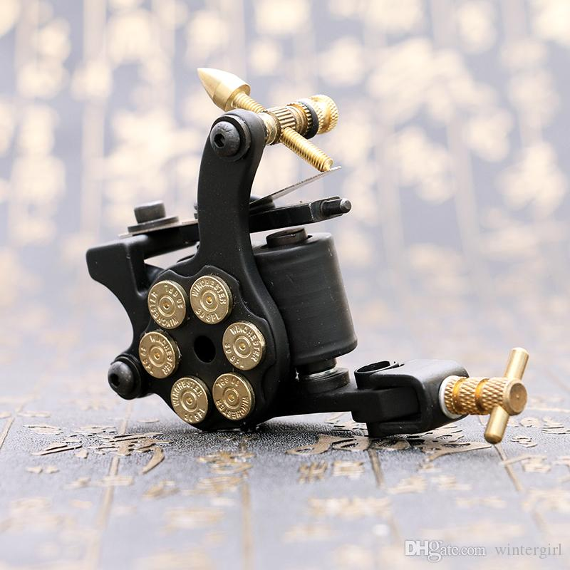 Wholesale Handmade Tattoo Gun Black Bullet Wrap Coil Tattoo Machine Shader Tattoo Supply High Quality TM2381