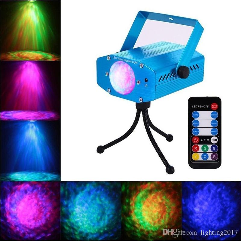 LED Laser light Water Ripples Proiettore i Sound Activated Disco DJ Clubs Bar Party Luci da palcoscenico con telecomando