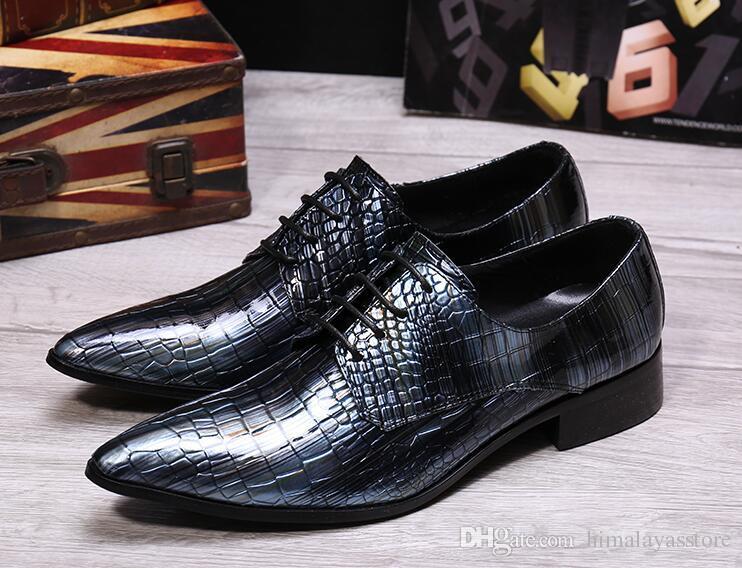 Italian Luxury Style Men S Fashion Dress Wedding Shoes Men Oxford