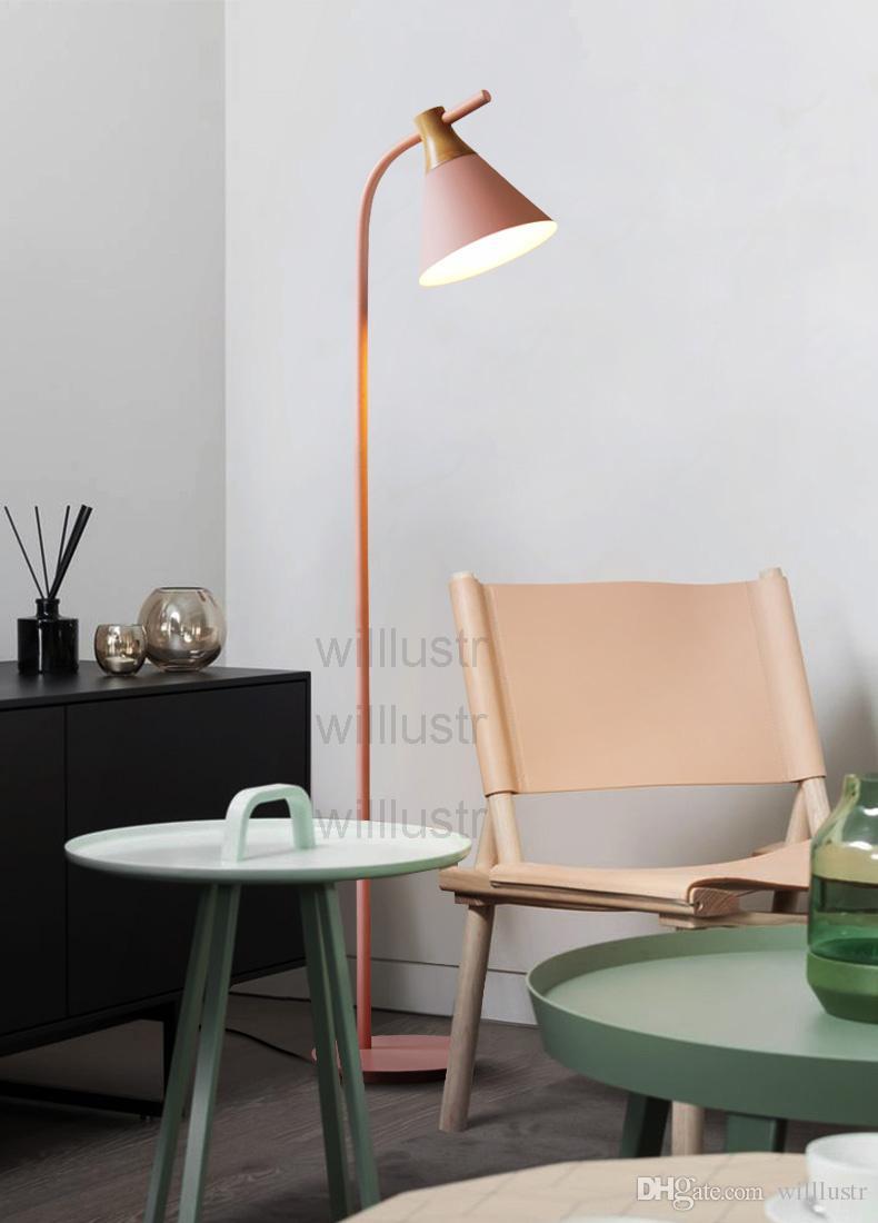 Willlustr modern tasarım ahşap Zemin Lambası nordic Aydınlatma macaron renk Lambaları oturma odası Yatak Odası Çalışma Odası otel salonu kanepe yan zemin ışık