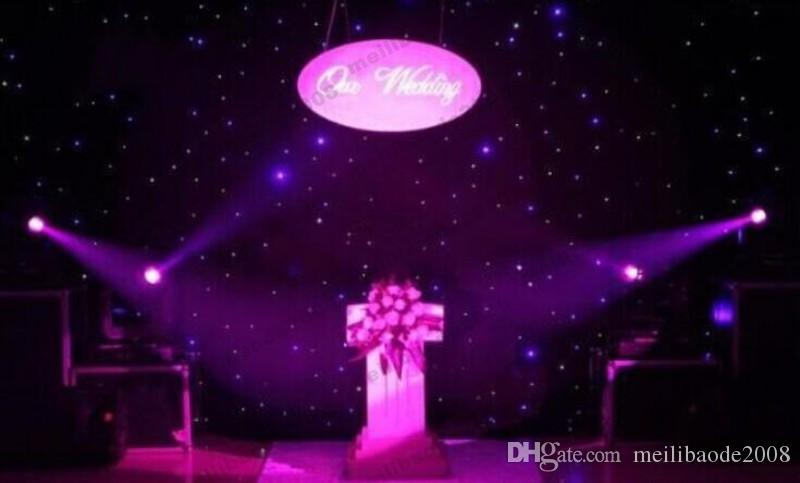 NEW 60 Square Meters Blue-White Color LED Star Curtain Wedding Stage Backdrops Cloth With Lighting Controller For Wedding Decoration Su