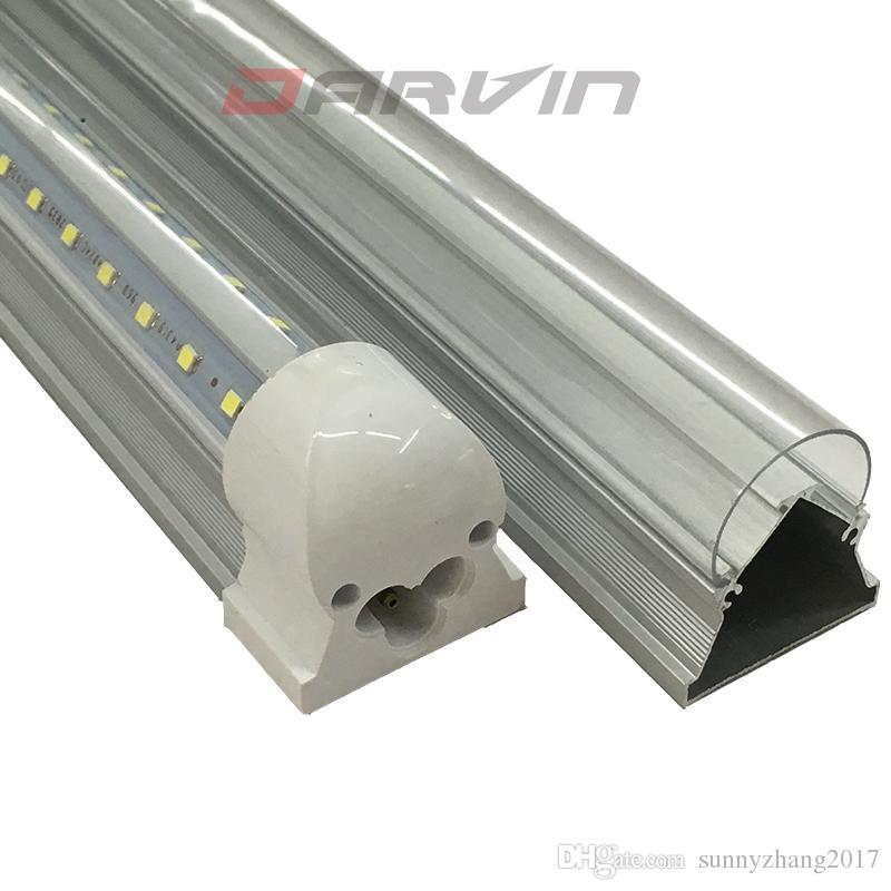 T8 ha condotto il tubo 4ft V-Shade integrato fluorescente Led Light 1200 millimetri 28W luminoso eccellente 270 gradi angolo del fascio della lampada Top Vendite