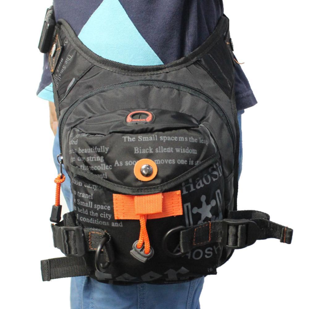 267edfb0e1 Wholesale Men S Waterproof Nylon Ride Leg Bag Drop Fanny Waist Belt Hip Bum  Motorcycle Riding Waist Leg Bag Messenger Shoulder Bag Nice Handbags Small  ...
