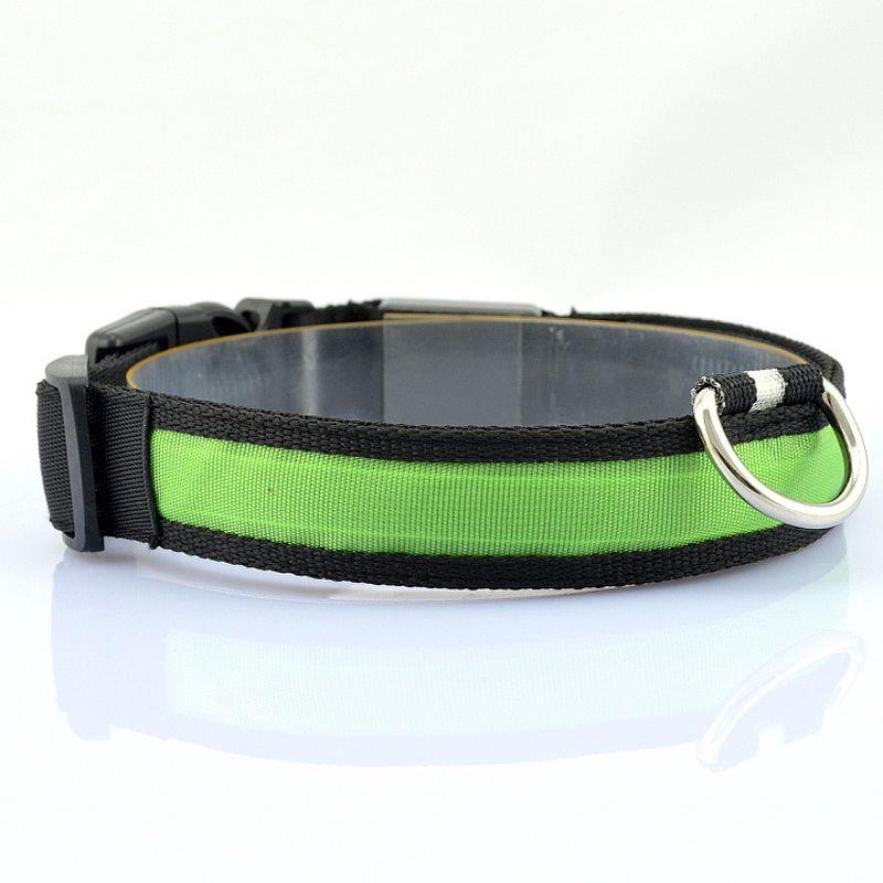 LED Naylon Pet Köpek Yaka Gece Güvenlik LED Işık Yanıp Sönen Glow Karanlık Küçük Köpek Pet Tasma Köpek Yaka Yanıp Güvenlik Yaka