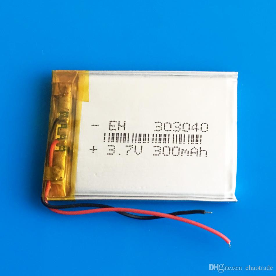 Модель: 303040 3.7 v 300mAh Li-polymer LiPo аккумуляторные батареи li ion power для мини-динамик Mp3 bluetooth GPS DVD-рекордер наушники