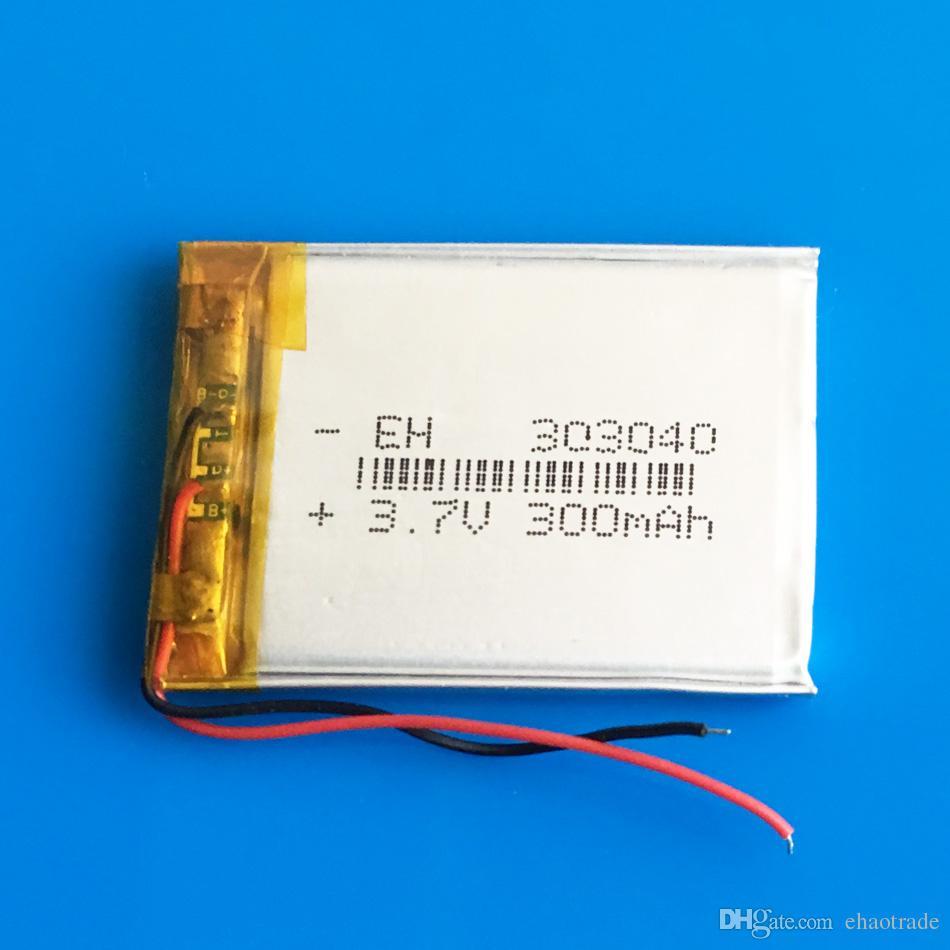Modello: 303040 3.7 v 300 mAh Li-polimero LiPo Batteria ricaricabile Batteria agli ioni di litio Potenza mini altoparlante Mp3 bluetooth GPS DVD Registratore cuffie