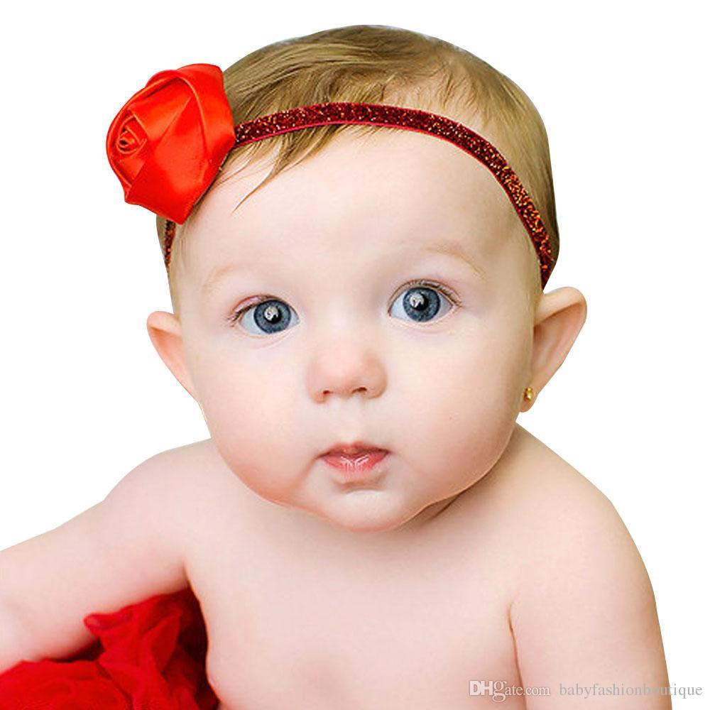 Compre Cinta De Beb Caliente Diadema Rosa Pelo Arcos Chicas Nias