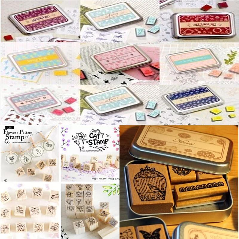 Wholesale 24 Different Styles Diy Scrapbooking Angel Stamps Set