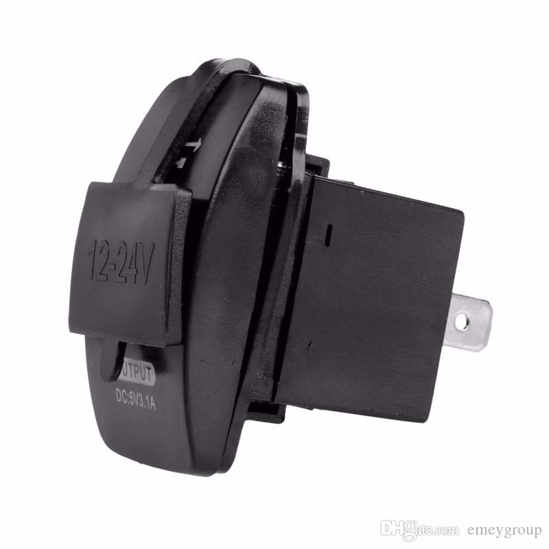 Car Charger Cigarette Lighter Socket Splitter Power Adapter Outlet 12V Dual USB for iphone samsung huawei xiaomi