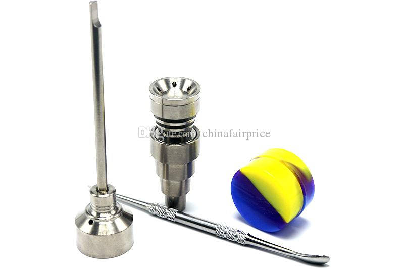 Bong Tool Set Carb Cap T-002 10mm 14mm 18mm Domeless Gr2 Titanium Nail Dabber For Oil Rigs Glass Bong Smoking Water Pipes DHL