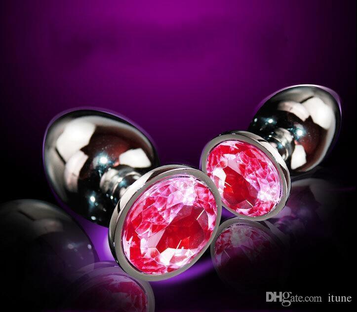 EXTRA LARGE Bottone attraente bottoni in metallo sintetico / tappi anestetici gioiello / tasselli Rosebud sex toys