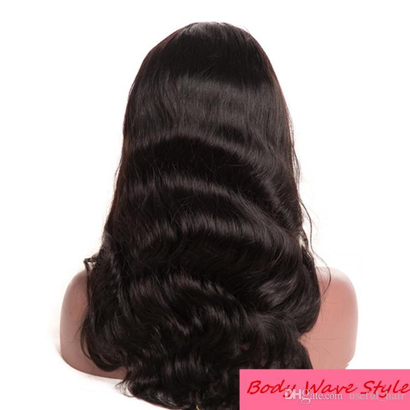 130% Density Lace Front Human Hair Wigs For Black Women short wigs Pre Plucked Natural Hairline With Baby Hair ombre curly wigs