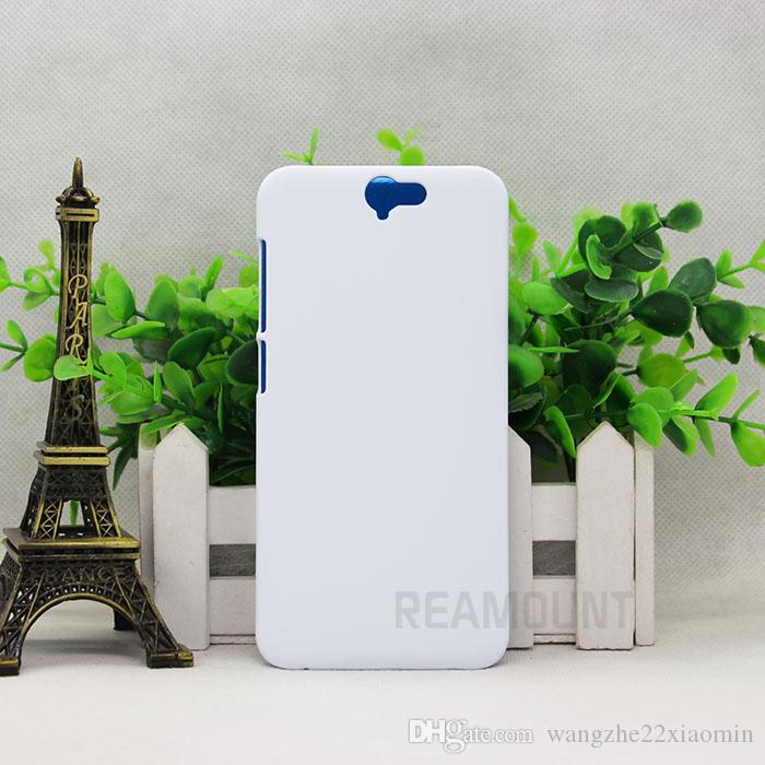 3D DIY Blank Sublimation Fall für HTC 816 820 825 für HTC M7 M8 M9 Weiß matt und glatt Gehäuse mit Aluminium-Platten